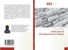 Portada del libro de L'Efficacité de l'Enseignement en Afrique