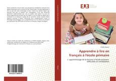 Couverture de Apprendre à lire en français à l'école primaire