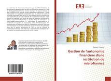 Portada del libro de Gestion de l'autonomie financière d'une institution de microfiannce