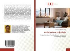 Couverture de Architecture coloniale