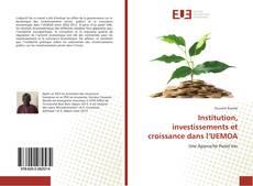 Borítókép a  Institution, investissements et croissance dans l'UEMOA - hoz