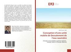 Bookcover of Conception d'une unité mobile de Dessalement de l'eau saumâtre