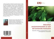 Copertina di Education environnementale au sein de l'université marocaine