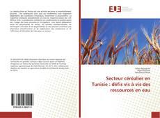 Bookcover of Secteur céréalier en Tunisie : défis vis à vis des ressources en eau