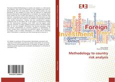 Bookcover of Methodology to country risk analysis