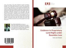 Bookcover of Evidence in Proprietary Land Right under Rwandan Law