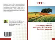 Couverture de Entrepreneuriat et la promotion de l'artisanat familial à Kananga