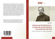 Emmanuel de Martonne - l'avocat de la Roumanie à la Conférence de Paix kitap kapağı