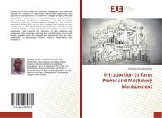 Capa do livro de Introduction to Farm Power and Machinery Management