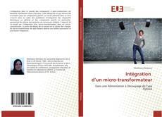 Intégration d'un micro-transformateur kitap kapağı