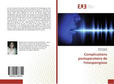 Couverture de Complications postopératoire de l'otospongiose