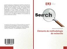 Borítókép a  Éléments de méthodologie de recherche - hoz