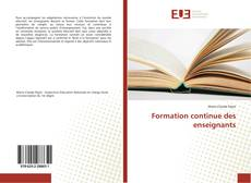Bookcover of Formation continue des enseignants