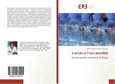 Capa do livro de L'accès à l'eau potable