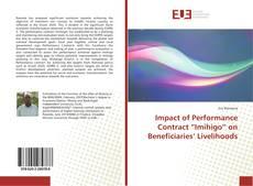 "Bookcover of Impact of Performance Contract ""Imihigo"" on Beneficiaries' Livelihoods"