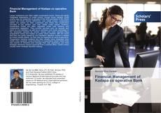 Buchcover von Financial Management of Kadapa co operative Bank