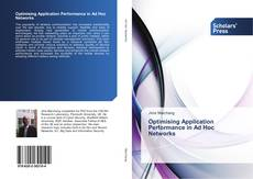 Bookcover of Optimising Application Performance in Ad Hoc Networks