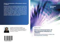 Couverture de Clinical characteristics of Mycoplasma infection in children