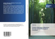 Bookcover of Carbon Storage of Bamboo Forest and Its Ecological Function