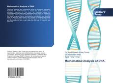Bookcover of Mathematical Analysis of DNA
