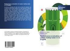 Bookcover of Performance evaluation of castor methyl ester in CI Engine