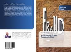 Portada del libro de Auditors and Fraud Responsibilities