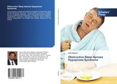 Bookcover of Ostructive Sleep Apnoea Hypopnoea Syndrome