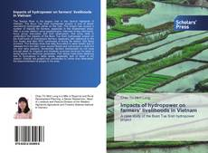 Bookcover of Impacts of hydropower on farmers' livelihoods in Vietnam