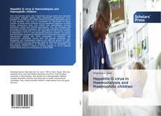 Copertina di Hepatitis G virus in Haemodialysis and Haemophilic children