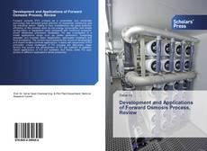 Portada del libro de Development and Applications of Forward Osmosis Process, Review