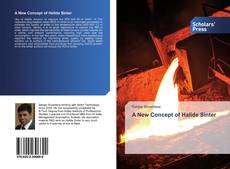 Bookcover of A New Concept of Halide Sinter