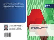 Couverture de Mathematical Programming and Applications