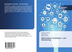Bookcover of Optimization Technique - Job Scheduling
