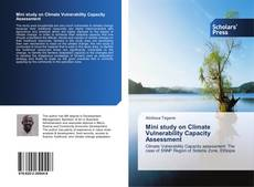 Capa do livro de Mini study on Climate Vulnerability Capacity Assessment