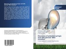 "Capa do livro de Discovery of potential syringic acid (SA) derived ""BH3 mimetics"""
