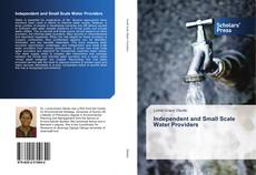 Bookcover of Independent and Small Scale Water Providers