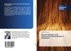 Couverture de Decentralisation and Community Development in Zimbabwe