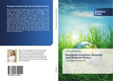 Bookcover of European Common Security and Defence Policy