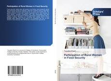 Bookcover of Participation of Rural Women in Food Security