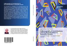 Bookcover of A Monograph of Contributions of Dr.S.Aravamudhan to Scientific Events
