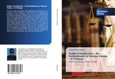 Borítókép a  Indian Constitution - An Embodiment of Human Values - A Critique - hoz