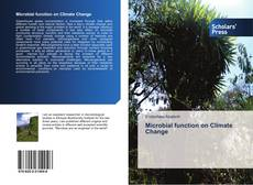 Copertina di Microbial function on Climate Change
