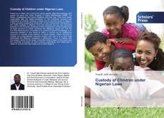 Buchcover von Custody of Children under Nigerian Laws