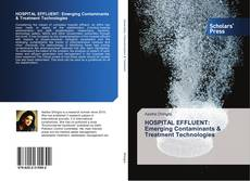 HOSPITAL EFFLUENT: Emerging Contaminants & Treatment Technologies kitap kapağı