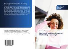 Buchcover von Bad credit and their impact on the lending economy !