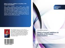 Обложка Effect of ternary addition on ductility of Rh-based intermetallics