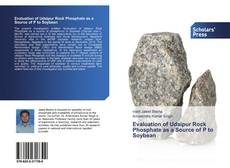 Bookcover of Evaluation of Udaipur Rock Phosphate as a Source of P to Soybean