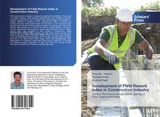 Buchcover von Development of Field Rework Index in Construction Industry