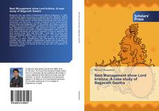 Bookcover of Best Management show Lord krishna :A case study of Bagavath Geetha