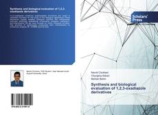 Capa do livro de Synthesis and biological evaluation of 1,2,3-oxadiazole derivatives